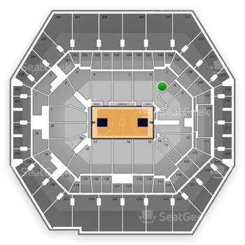 Indiana Pacers at Bankers Life Fieldhouse Section 7 View