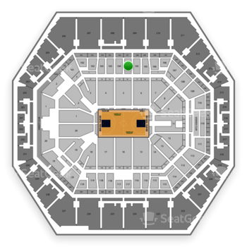 Indiana Pacers at Bankers Life Fieldhouse Section 104 View