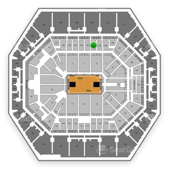 Indiana Pacers at Bankers Life Fieldhouse Section 105 View