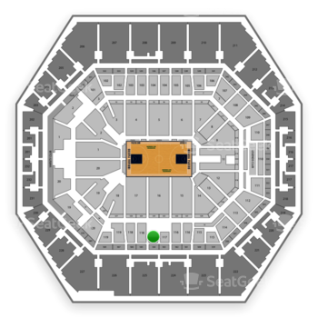 Indiana Pacers at Bankers Life Fieldhouse Section 117 View