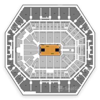 Indiana Pacers at Bankers Life Fieldhouse Section 124 View
