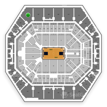 Indiana Pacers at Bankers Life Fieldhouse Section 206 View