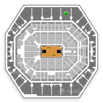 Indiana Pacers at Bankers Life Fieldhouse Section 210 View