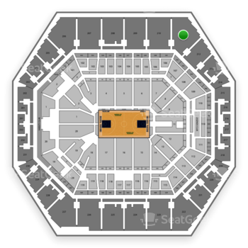 Indiana Pacers at Bankers Life Fieldhouse Section 211 View