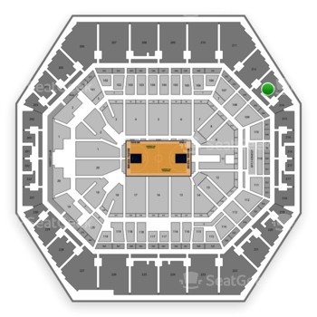 Indiana Pacers at Bankers Life Fieldhouse Section 213 View
