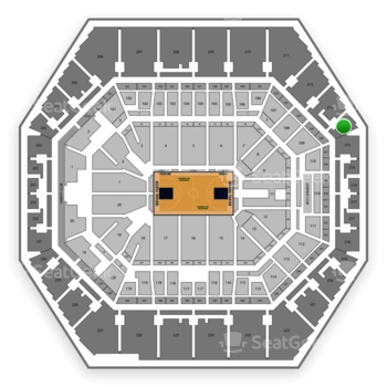 Indiana Pacers at Bankers Life Fieldhouse Section 214 View