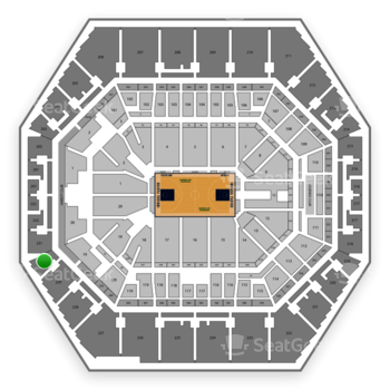 Indiana Pacers at Bankers Life Fieldhouse Section 230 View