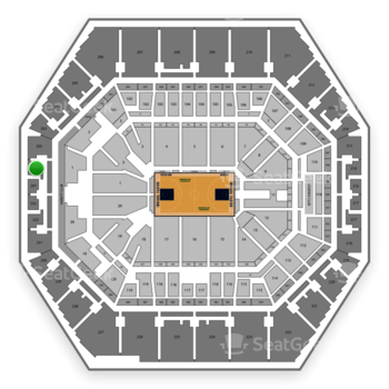 Indiana Pacers at Bankers Life Fieldhouse Section 201 View