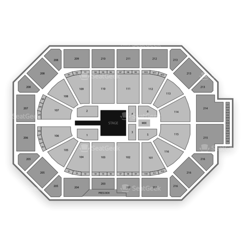 Allstate arena seating chart interactive seat map seatgeek