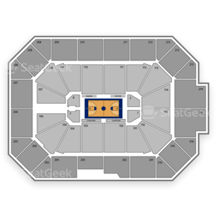 DePaul Blue Demons Basketball Seating Chart