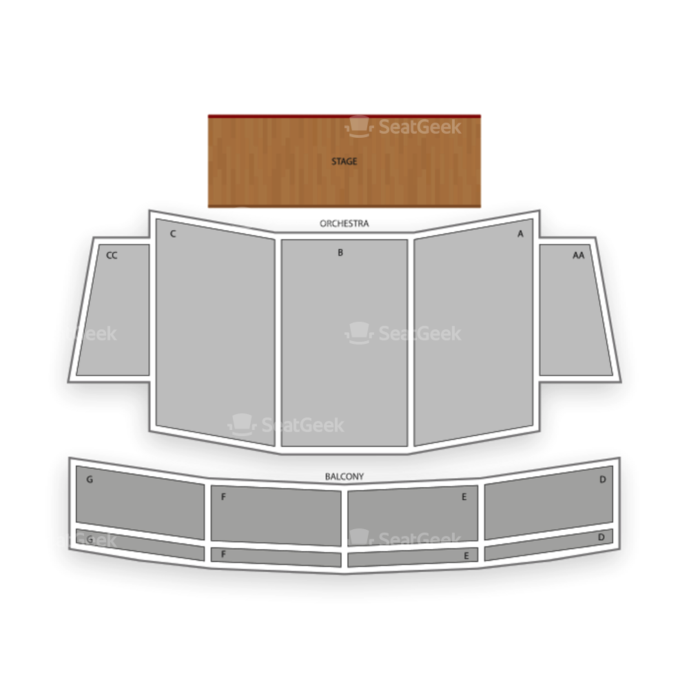 California Theatre of the Performing Arts Seating Chart Dance Performance Tour
