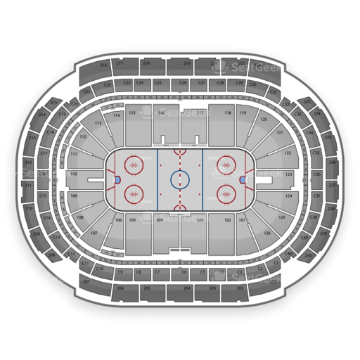 Interactive NHL Seating Charts by SeatGeek - TBA