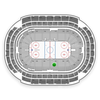 NHL at Xcel Energy Center Section 103 View