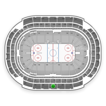 NHL at Xcel Energy Center Section 204 View