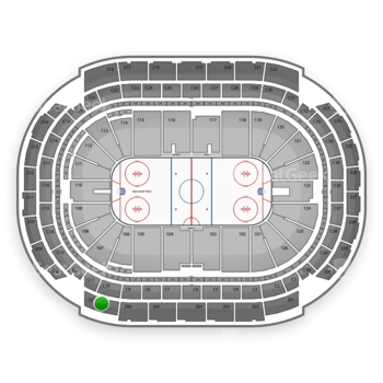 NHL at Xcel Energy Center Section 207 View