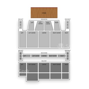 Orpheum Theatre Seating Chart Concert