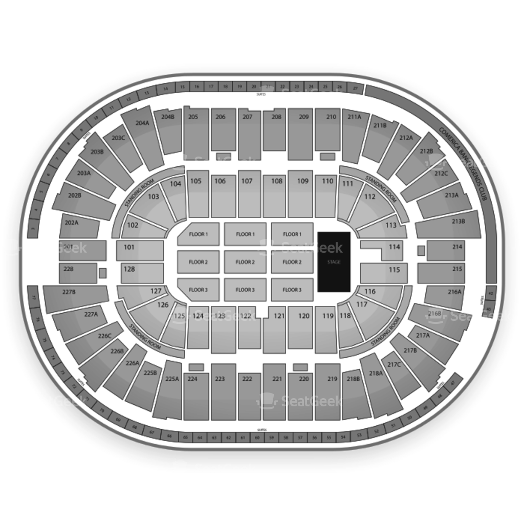 Joe Louis Arena Seating Chart & Map | SeatGeek