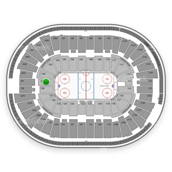 Detroit Red Wings at Joe Louis Arena Section 101 View