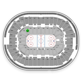 Detroit Red Wings at Joe Louis Arena Section 104 View