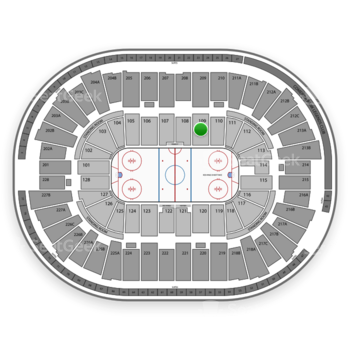 Detroit Red Wings at Joe Louis Arena Section 109 View