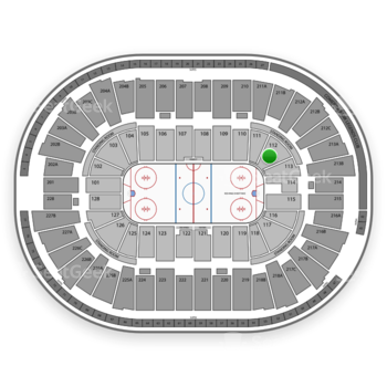Detroit Red Wings at Joe Louis Arena Section 112 View