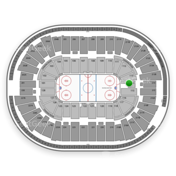 Detroit Red Wings at Joe Louis Arena Section 114 View