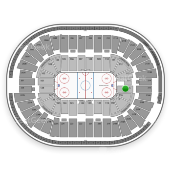Detroit Red Wings at Joe Louis Arena Section 115 View