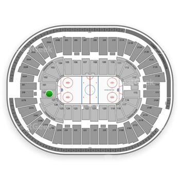 Detroit Red Wings at Joe Louis Arena Section 128 View