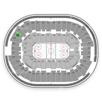 Detroit Red Wings at Joe Louis Arena 203 A View
