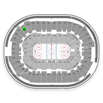 Detroit Red Wings at Joe Louis Arena 203 C View