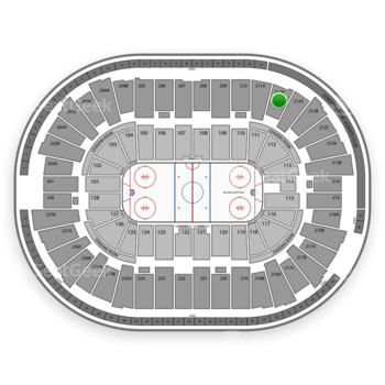Detroit Red Wings at Joe Louis Arena 211 B View