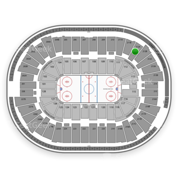 Detroit Red Wings at Joe Louis Arena 212 A View