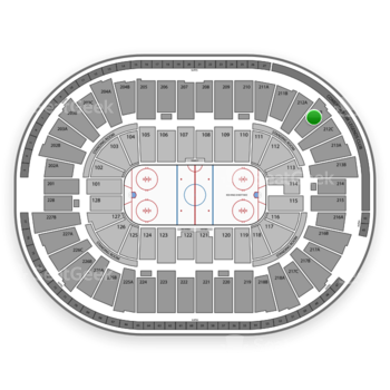 Detroit Red Wings at Joe Louis Arena 212 B View