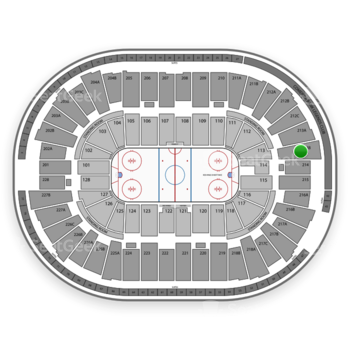 Detroit Red Wings at Joe Louis Arena 213 B View