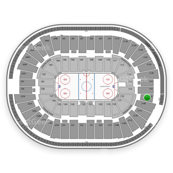 Detroit Red Wings at Joe Louis Arena 216 A View