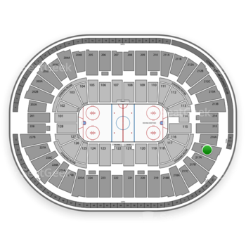 Detroit Red Wings at Joe Louis Arena 216 B View