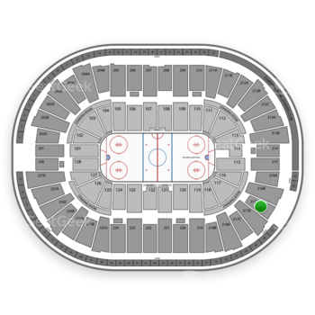 Detroit Red Wings at Joe Louis Arena 217 A View