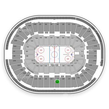 Detroit Red Wings at Joe Louis Arena Section 221 View