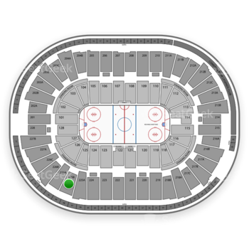 Detroit Red Wings at Joe Louis Arena 225 B View