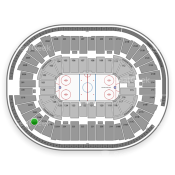 Detroit Red Wings at Joe Louis Arena 226 B View