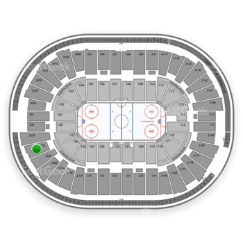 Detroit Red Wings at Joe Louis Arena 227 A View