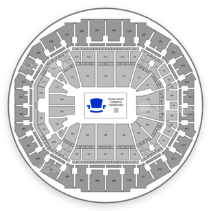 FedExForum Seating Chart Wwe