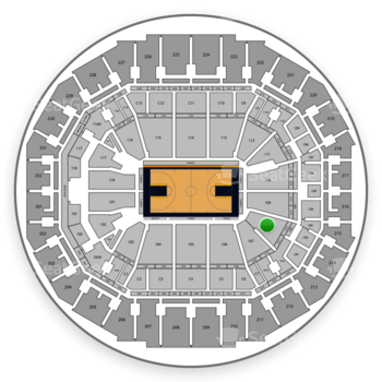 Memphis Grizzlies at FedExForum Section 108 View