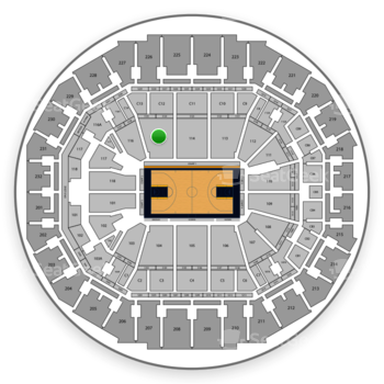 Memphis Grizzlies at FedExForum Section 115 View