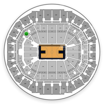 Memphis Grizzlies at FedExForum 116 A View