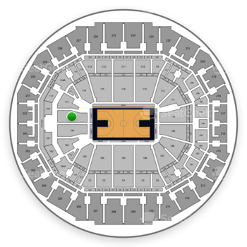 Memphis Grizzlies at FedExForum Section 118 View