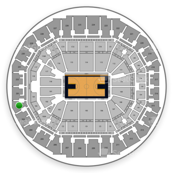 Memphis Grizzlies at FedExForum Section 202 View