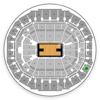 Memphis Grizzlies at FedExForum Section 214 View
