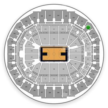 Memphis Grizzlies at FedExForum Section 220 View