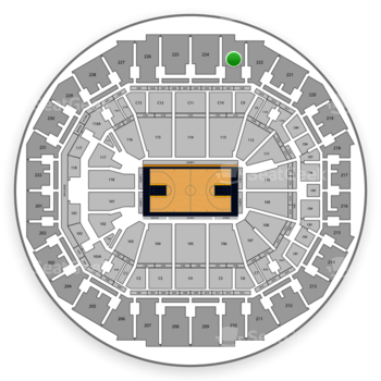 Memphis Grizzlies at FedExForum Section 223 View